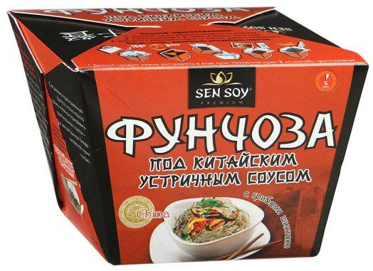 СЭН-СОЙ БЫСТРЫЙ ОБЕД  Фунчоза под китайским устричным соусом с грибами Шиитаки, 125г