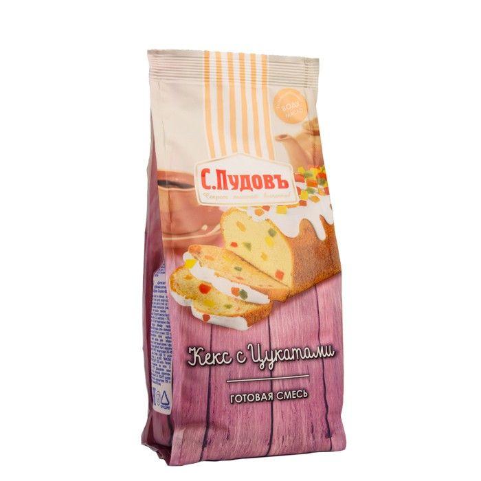 ПУДОВ Кекс с цукатами смесь 400 г